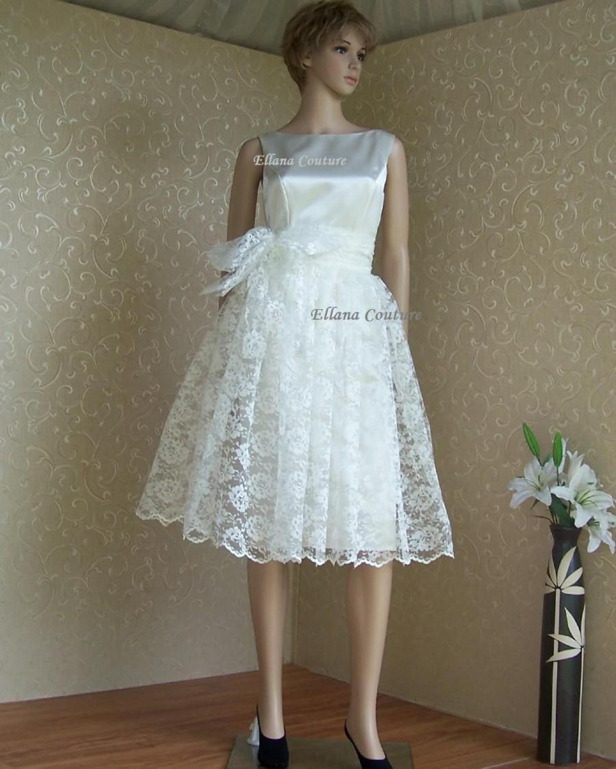 Wedding - SAMPLE SALE. Retro Style Wedding Dress. Two Piece. Simple and Sophisticated.