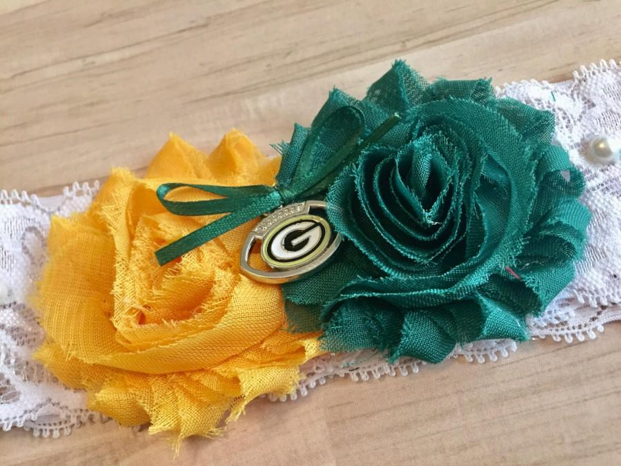 Свадьба - Green Bay Packers Wedding Garter / Packers Wedding Garter / Packers Garter / Wedding Garter/ Bridal Garter / Lace Garter