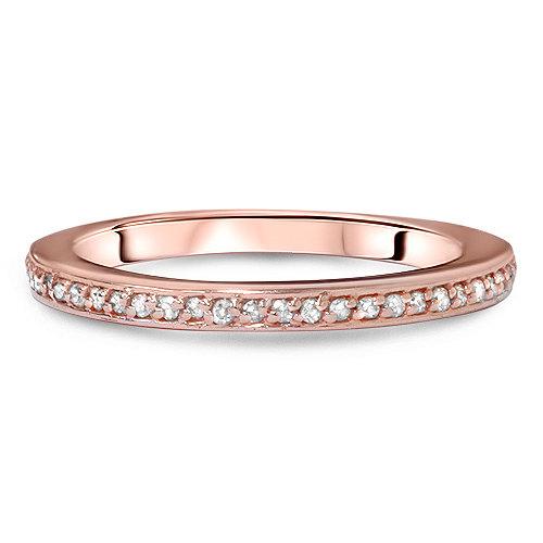 Wedding - 1/5CT Diamond Ring 14K Rose Gold Womens Wedding Band, Diamond Ring, 14k Rose Gold, Wedding Band, Diamond Ring, Wedding Band, 14k Rose Gold