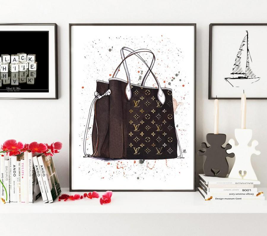 Hochzeit - Louis Vuitton, Louis Vuitton art, Louis Vuitton bag, Fashion illustration, Fashion sketch, Fashion poster, Fashion art, Watercolor painting