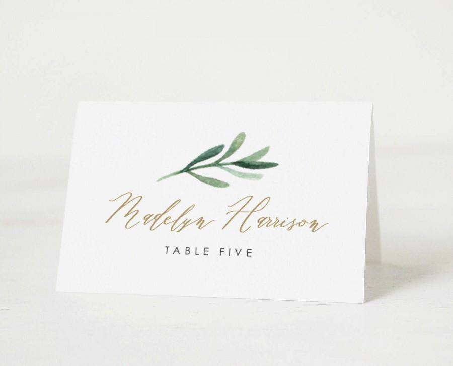 Greenery Place Cards Template • Printable Wedding Place Cards • Vintage Florals Wedding