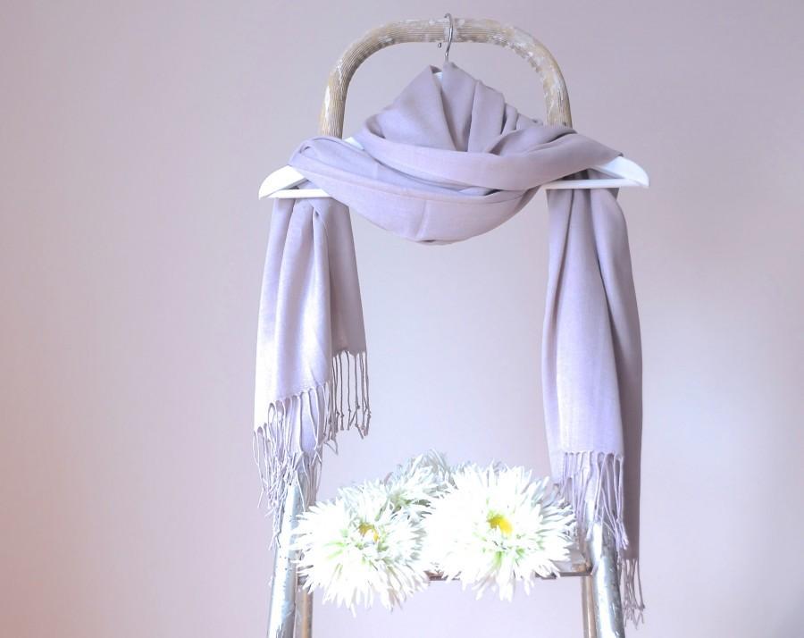 Hochzeit - Lilac Grey Wedding Shawl, Stone Blush Bridal Shawl, Lavender Taupe Wrap, Bridesmaids Gift, Soft Lightweight Fine Scarf, Mothers Day Gift
