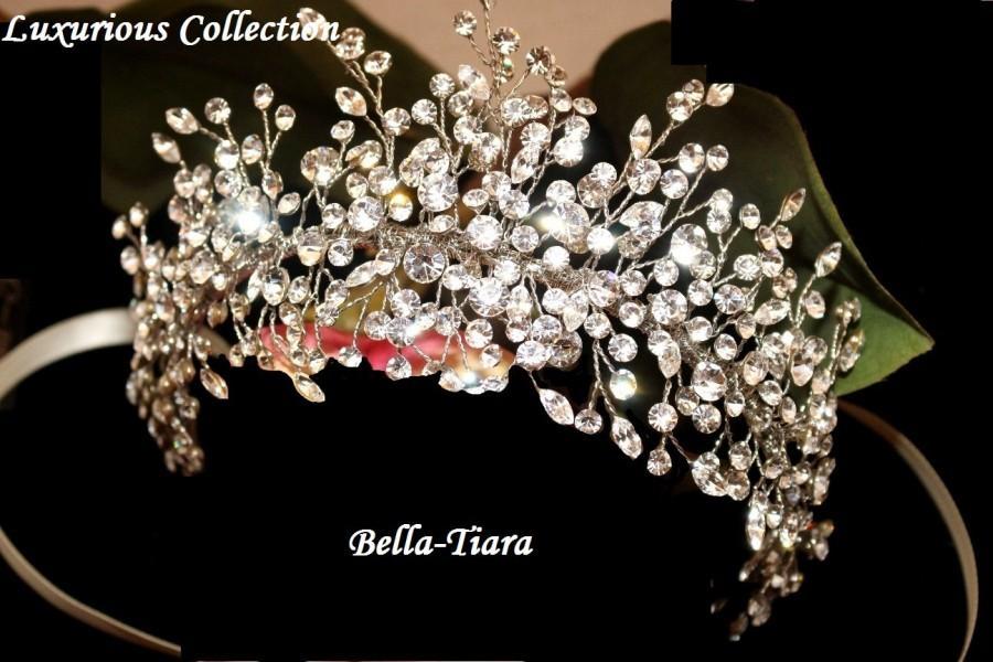 Hochzeit - Crystal hair vine, wedding hair vine, crystal wedding headband, wedding side clip, wedding headpiece, bridal headpiece, crystal comb