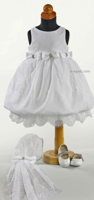 9cfb5cc7e29df Couture Baby Girl Baptism Dress SET * Lace White Dress * Greek ...
