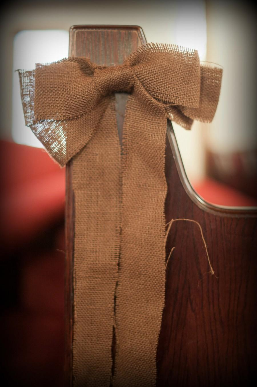 Wedding - Burlap Bow for Rustic, Country, Southern, Outdoor, Party or Wedding