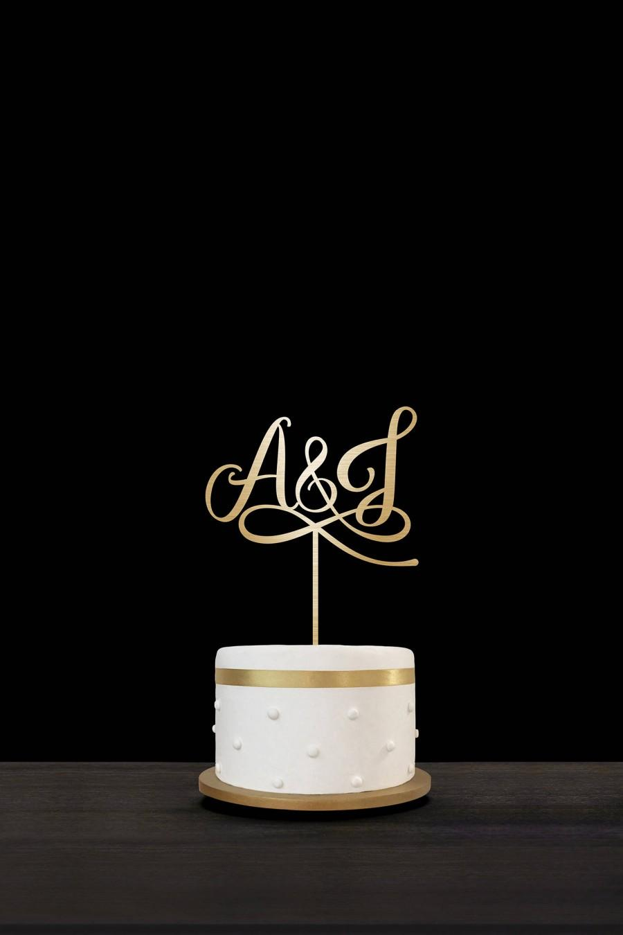 Hochzeit - Customized Wedding Cake Topper Initials Personalized Cake Topper for Wedding, Custom Personalized Wedding Cake Topper, Monogram Cake Topper