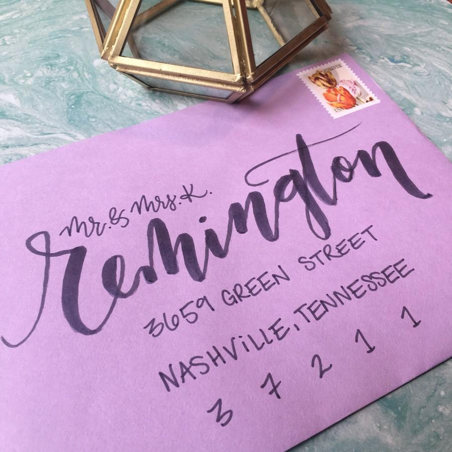 Mariage - Envelope Calligraphy, Wedding Calligraphy, Handwritten Envelope Addressing, Calligrapher, Brush Lettering, Wedding Calligraphy Services