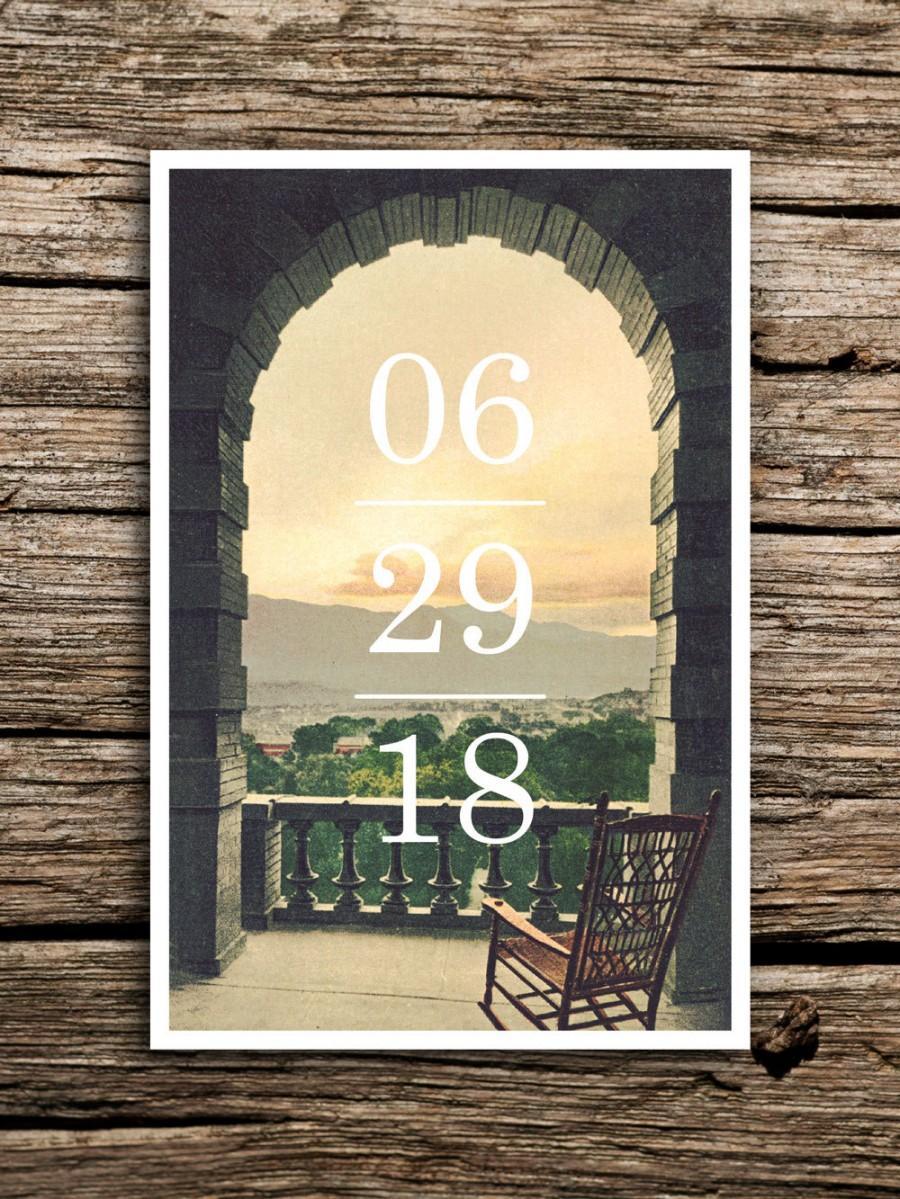 زفاف - Mountain View Postcard Save the Date // Save the Dates Colorado Wedding Utah Rocky Mountains Smoky Mountains Tennessee Rustic Vintage