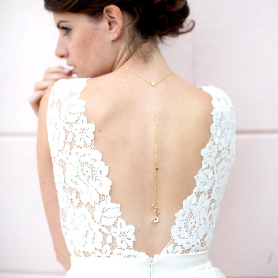 Removable Bridal Necklace Back Drop Necklace Btina Crystal