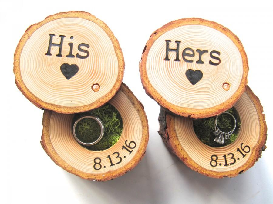 Hochzeit - Wedding Ring Box, Wedding Ring Storage, Tree Branch Ring Box, His and Hers Wedding Ring Box, Wood Ring Box