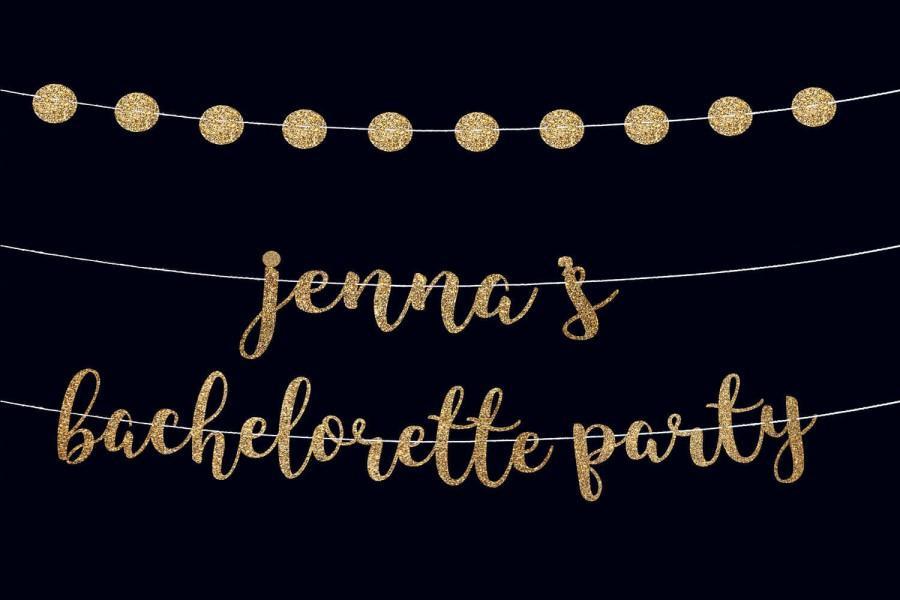Mariage - Bachelorette banner custom banner bachelorette party banner vegas party bachelorette party garland engaged banner bachelorette photo props