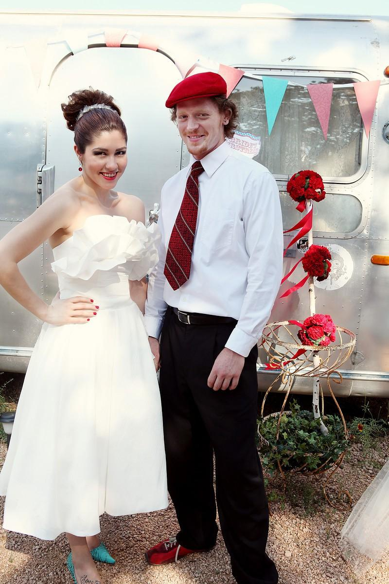 Mariage - Tea Length Retro Wedding Dress - Maggie May
