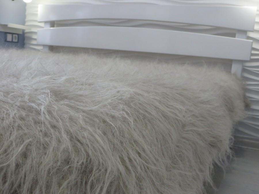 Bed blanket wool flokati throw fuzzy bed cover fur throw for Beds 185cm long