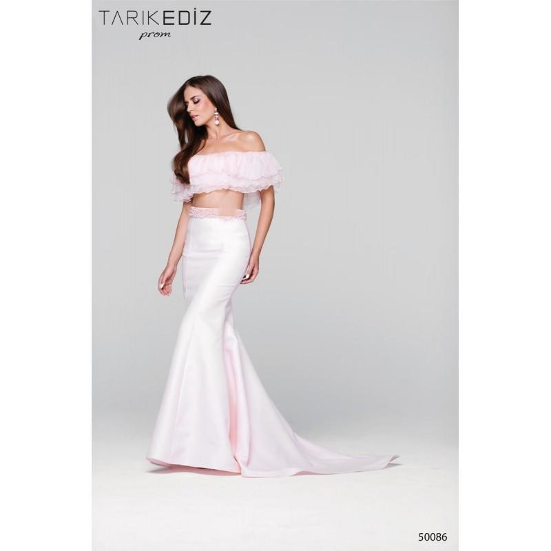 Wedding - Tarik Ediz Prom 50086 Tarik Ediz Prom - Top Design Dress Online Shop