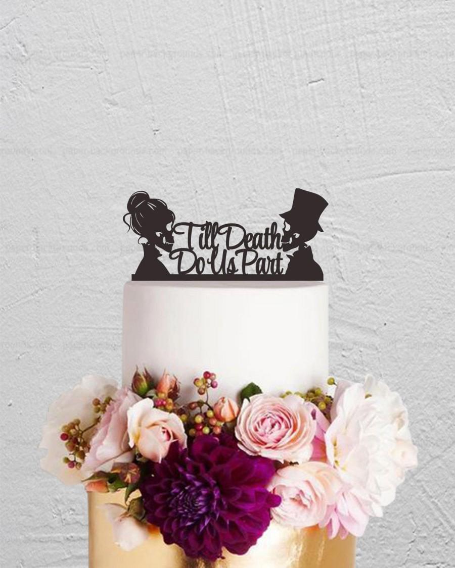 Skull Cake Topper Wedding Till Do Us Part Custom Skeleton