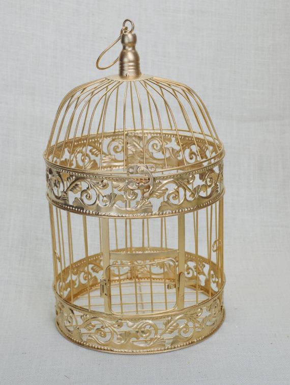 Mariage - B002 Wedding Birdcage Centerpiece or Wishing Well , Wedding Advice Box. Wedding Decor.