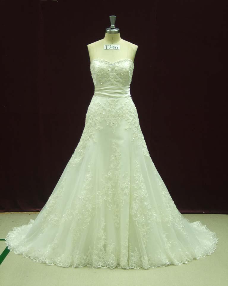 زفاف - Sexy Wedding Dress with French Lace Trumpet Fit and Flair Style Custom Made