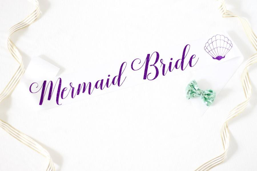 mermaid bride bachelorette sash in font 3 bachelorette party bride gift bride sash bridal shower mermaid bachelorette party