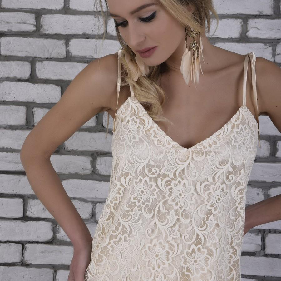 Bridal separates top wedding dress separates beige lace bridal separates top wedding dress separates beige lace adjustable spaghetti strap boho wedding top cream lace boho bridesmaid top ombrellifo Gallery