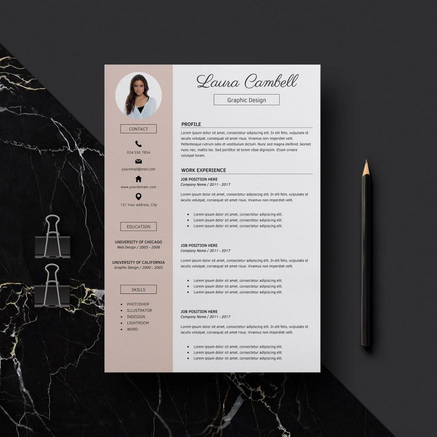 modern resume template cv template for word cover letter
