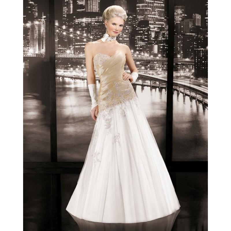 Nozze - Charming A-line Sweetheart Lace Floor-length Tulle&Taffeta Wedding Dresses - Dressesular.com