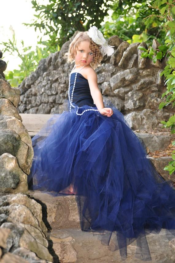 Свадьба - Girls Dress-Flower Girl Tutu with Detachable Train and Corset Top--Weddings, Pageants and Portraits-----Vogue