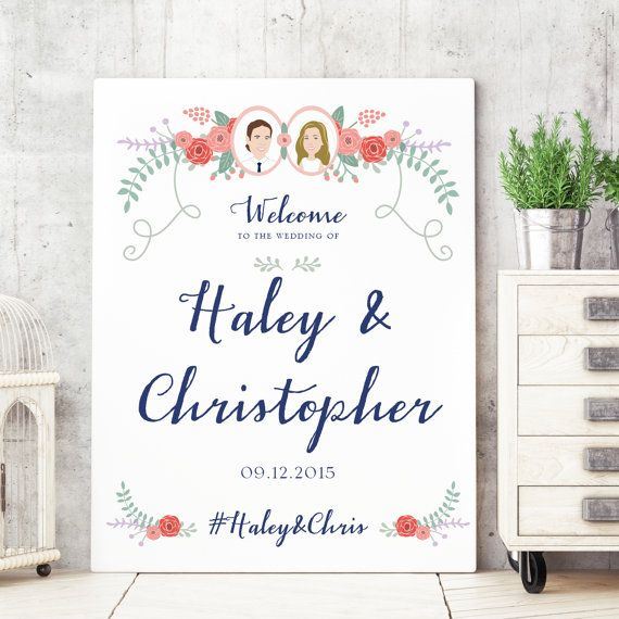 image relating to Wedding Signs Printable titled Marriage Welcome Signal -Marriage Signs or symptoms Tailor made Marriage ceremony Indicator