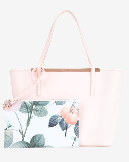 Boda - Crosshatch Leather Shopper - Nude Pink