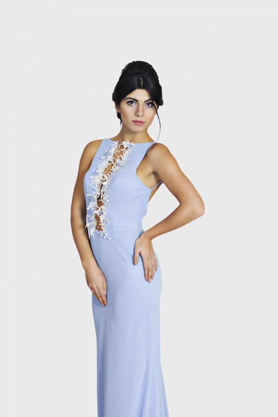 Mariage - Classy sky blue elegant dress / Formal dress, Cocktail dress, Designer dress, Long dress Bridesmaid dress Couture dress Ball gown Prom dress