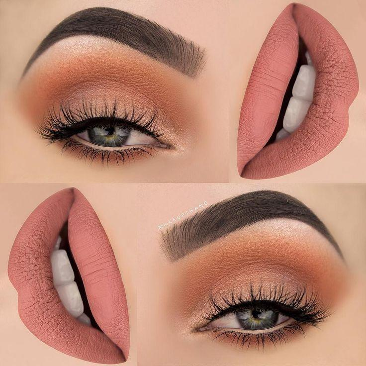 "Свадьба -  M A K E U P T H A N G On Instagram: ""Orange Soda And A Touch Of Peach, Perfect Fresh Look For Spring  Products Used:  BROWS: @anastasiabeverlyhills Dipbrow Pomade ""Granite"" ✨…"""