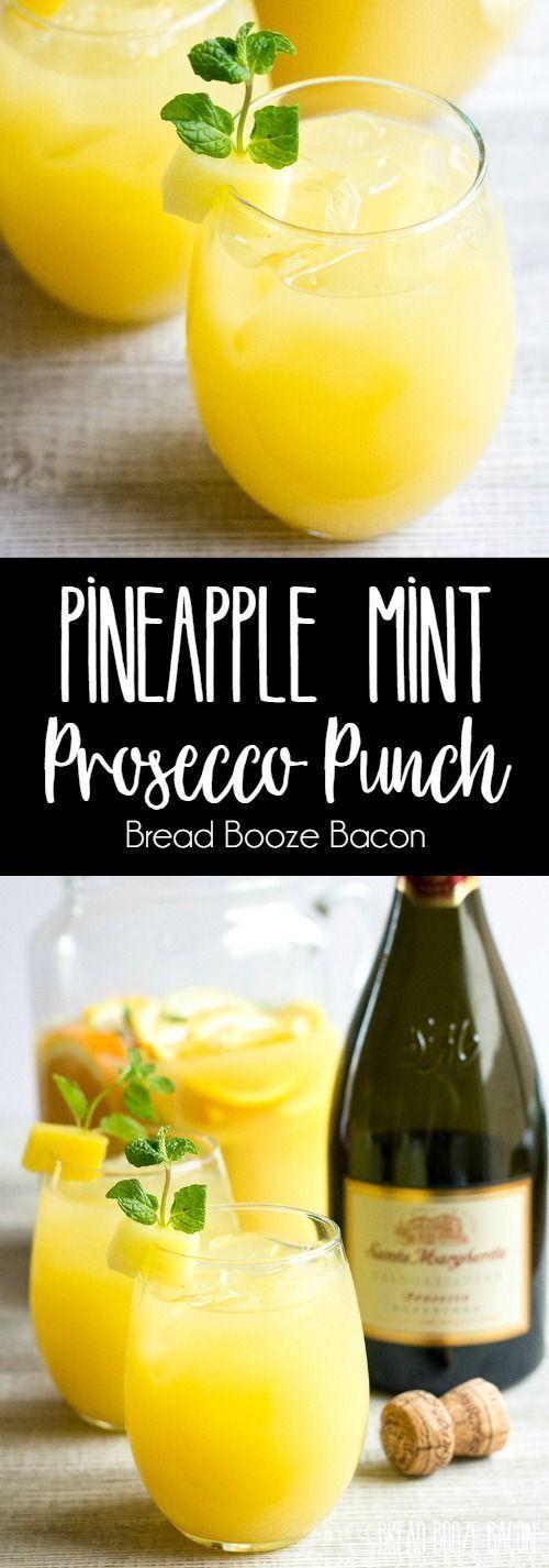 Свадьба - Pineapple Mint Prosecco Punch