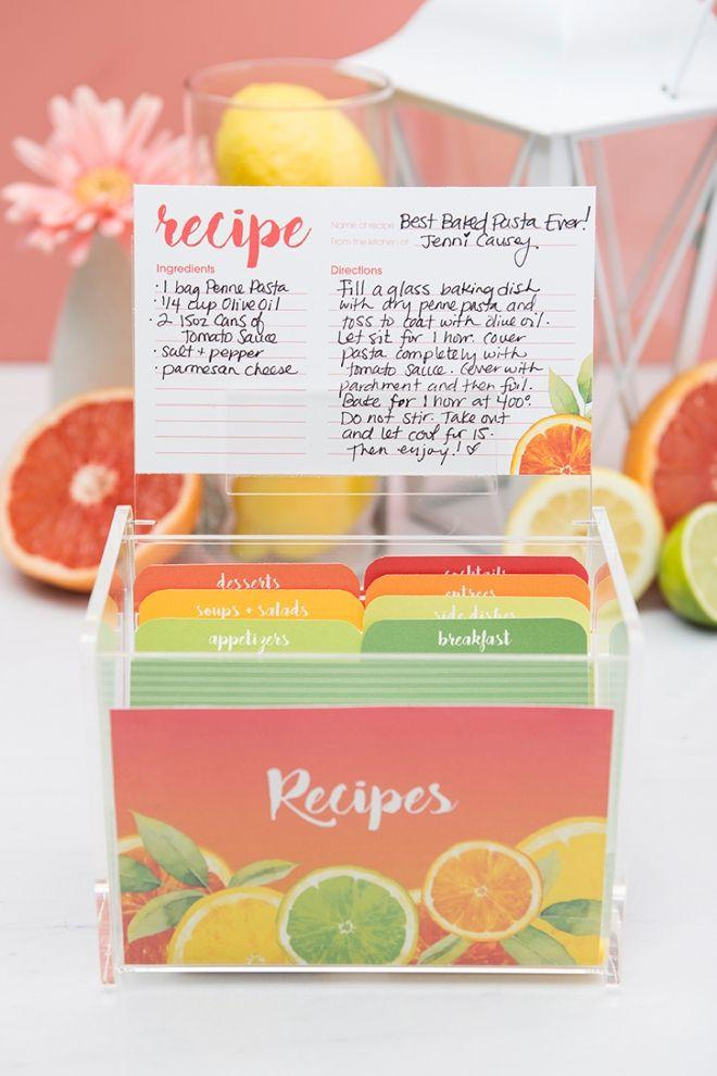 Свадьба - Check Out These Adorable, Citrus Recipe Box Printables!