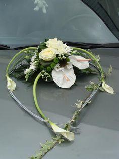 Hochzeit - Décoration Voiture Mariage, Composition Florale Voiture Duclair, Le Trait