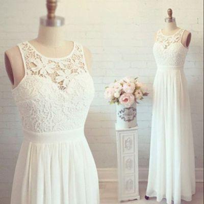 Hochzeit - Chiffon Wedding Dress With Lace ,cheap Wedding Dress ,A-line Wedding Dress ,beach Wedding Dress ,popular Wedding Dress ,WD1721 From Dreamgown