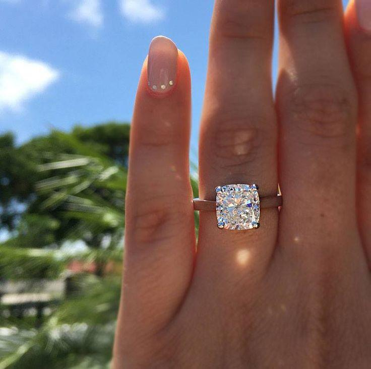 Wedding - Top 10 Cushion Cut Engagement Rings Of 2016