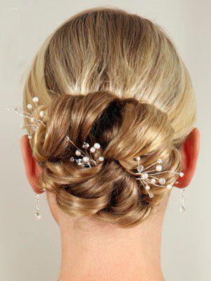 زفاف - Kingdom Royal Wedding: Simple Pearl & Crystal Hair Pin