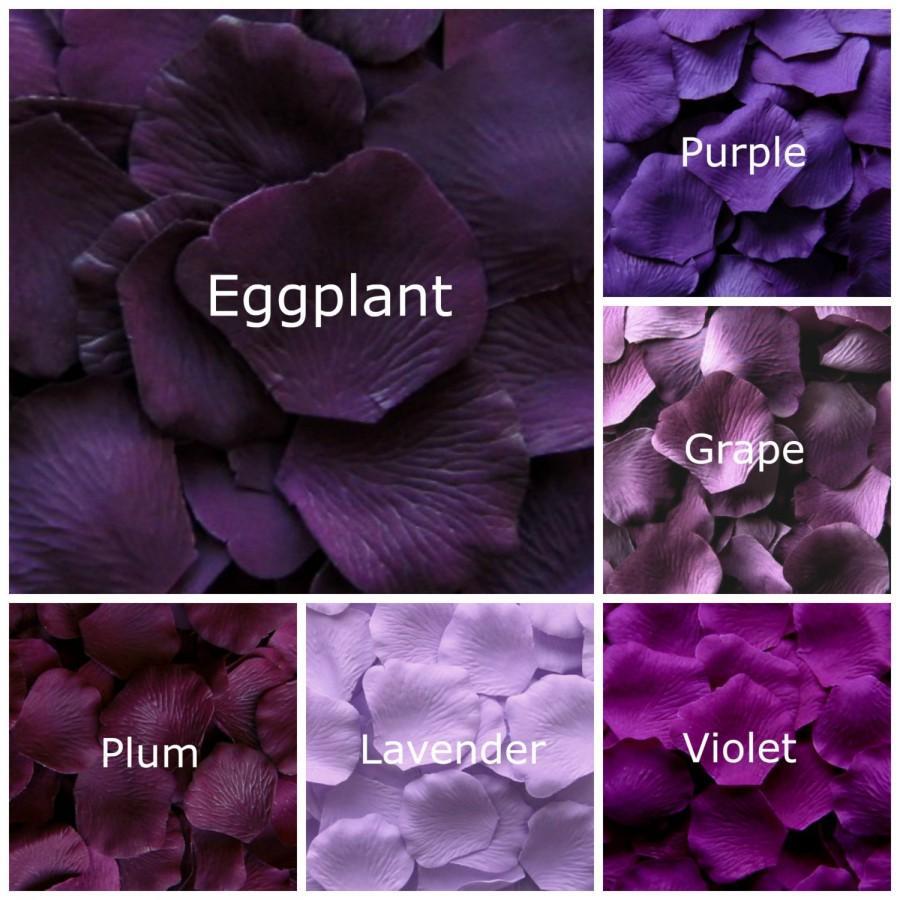 Hochzeit - Silk Rose Petals, 1000 petals, Purples