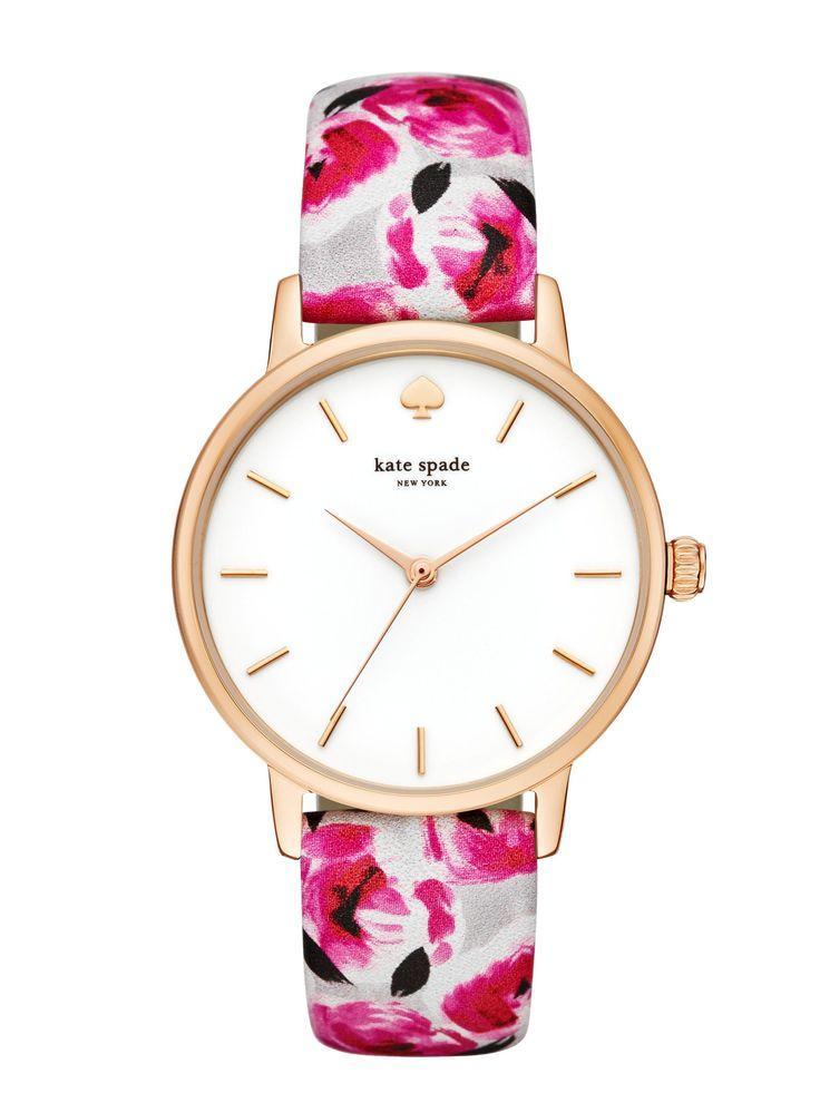 Mariage - Rose Print Metro Watch