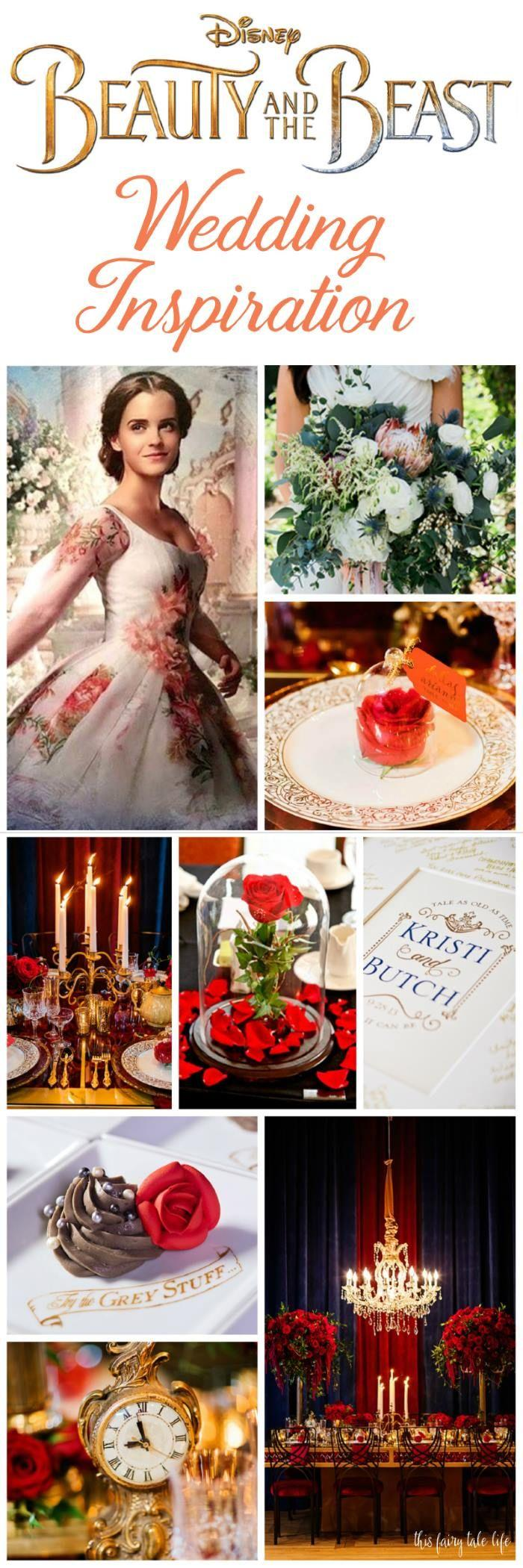 Wedding - Live-Action BEAUTY AND THE BEAST Wedding Inspiration