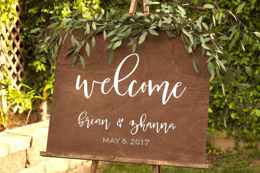 Wedding - Rustic Wood Wedding Welcome Sign - Wedding Welcome Sign - Welcome To The Wedding Sign - Wooden Welcome Sign