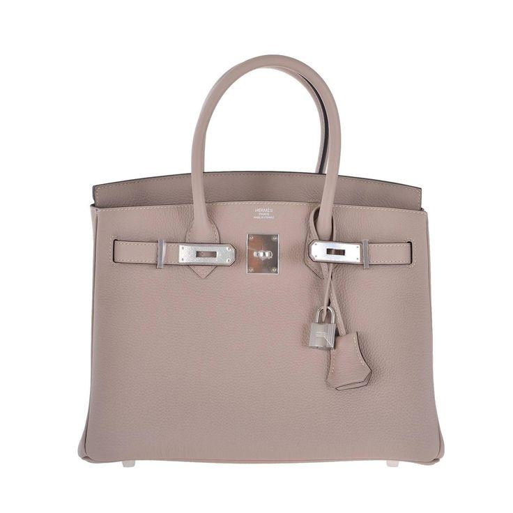Boda - HERMES BIRKIN BAG 30CM GRIS TOURTERELLE @ DOVE GREY JaneFinds