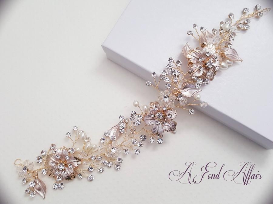 Bridal Hair Vine Hair Wreath Wedding Hair Vine Gold Rose Gold Hair Piece Bridal Headpiece 2713748 Weddbook