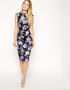 Mariage - ASOS Pencil Dress In Floral Print With High Neck At Asos.com