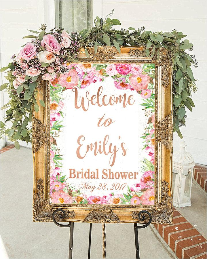 Wedding shower decorations elegant english wedding with a for Sign decoration