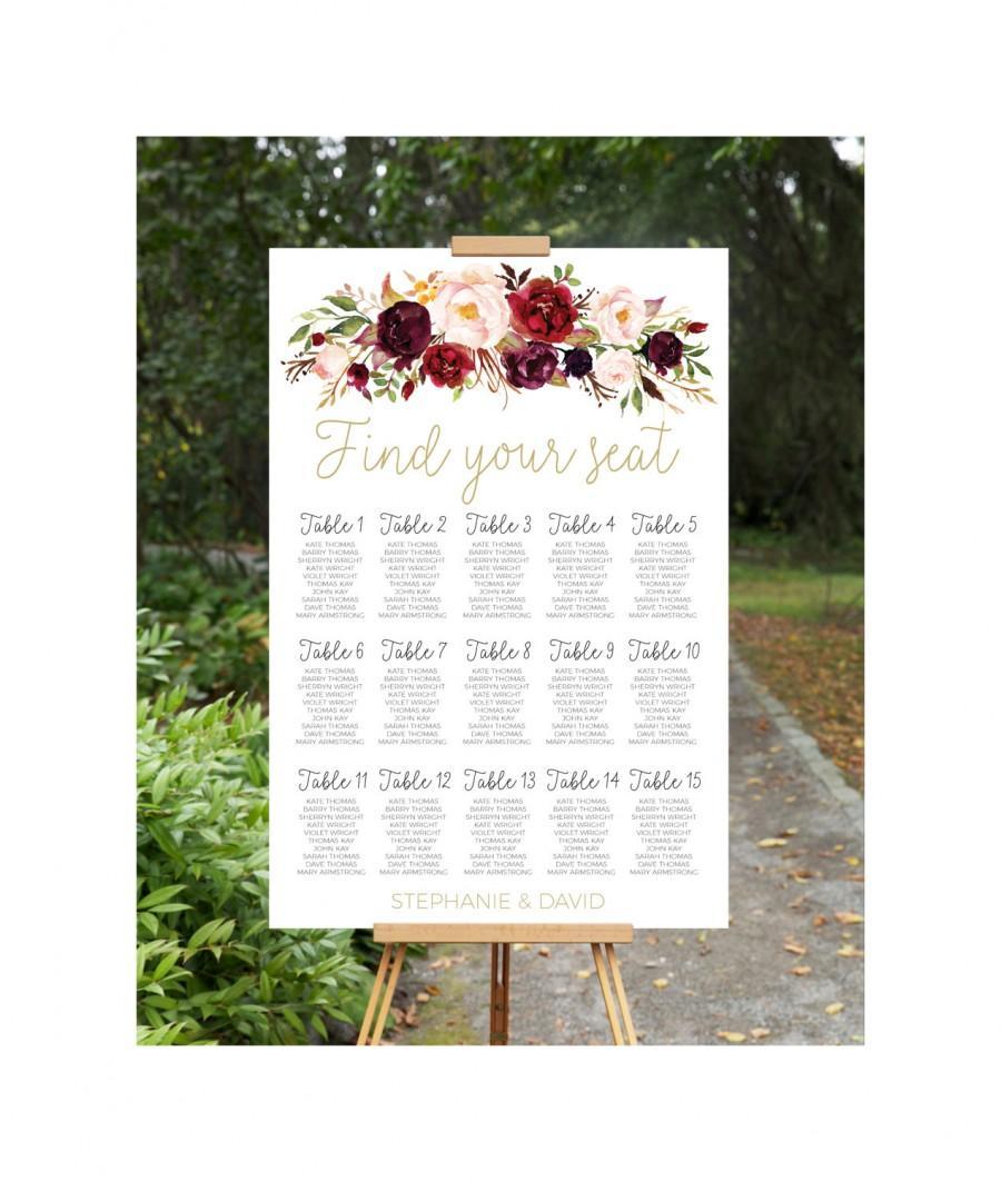 زفاف - Wedding Seating Chart, Wedding Seating Plan, Printable Wedding Seating Chart, wedding seating chart, engagement seating chart, seating sign