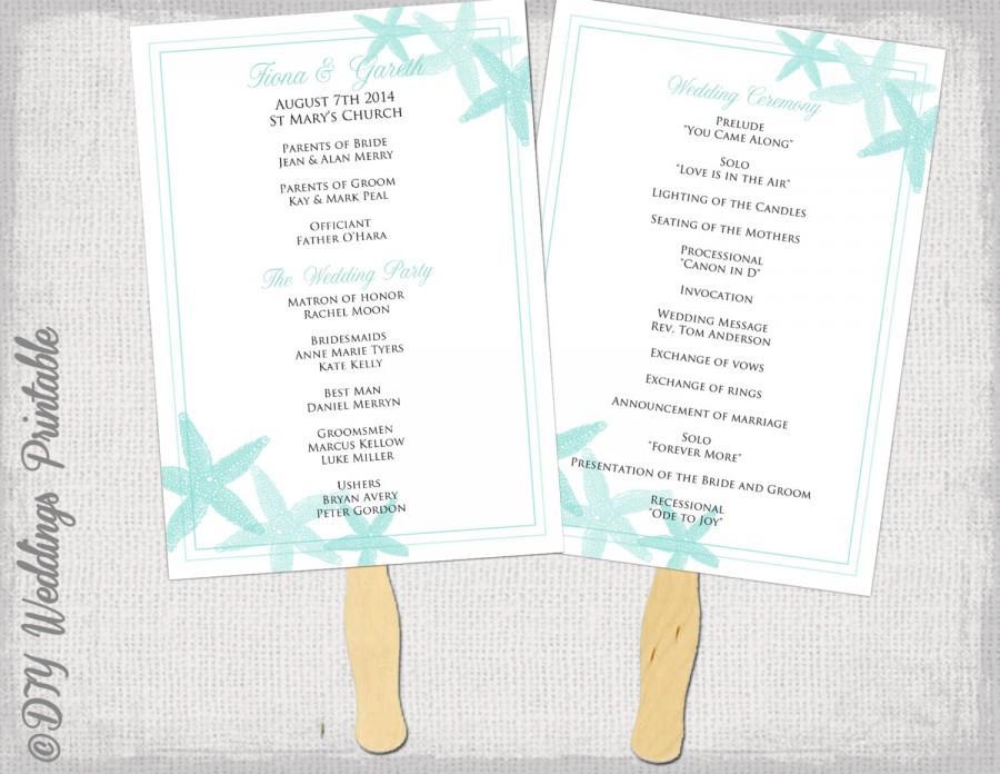 wedding program fan templates word - 28 images - wedding program fan ...