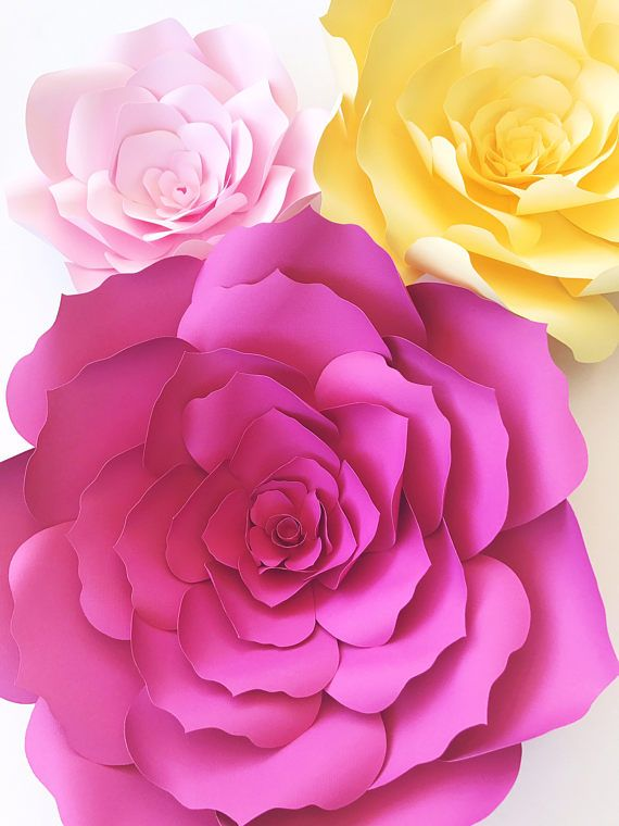 Düğün - Paper Flower Template, DIY Paper Flower Pattern, Paper Flower Templates Pattern, Paper Flower Tutorial, Paper Flower Backdrop