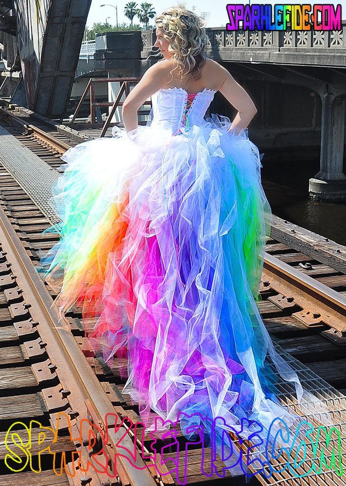 Свадьба - Vivid Rainbow Wedding Dress