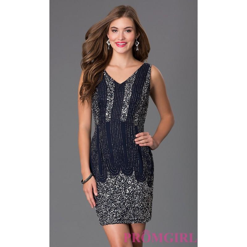 Boda - Short Sleeveless V-Neck Dress by Shail K. - Brand Prom Dresses