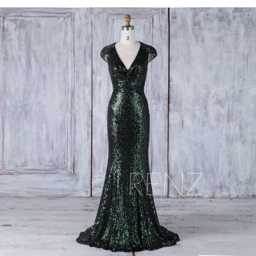 Sqence Dark Green Prom Dress
